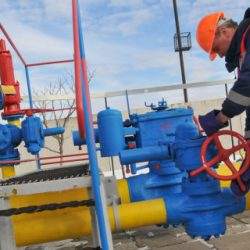 epa05793406 A worker checks equipment at the Dashava gas storage near western Ukrainian town of Stryi, 14 February 2017. The Board of Directors of Russian Gazprom company on 09 February approved the acquisition of additional shares in Nord Stream 2 worth EUR 1.425 billion, according to the company report. Nord Stream 2 AG is a company established for the planning, construction and further use of the Nord Stream-2 gas pipeline running from the Russian coast to Germany via the Baltic Sea bypassing Ukraine.  EPA/PAVLO PALAMARCHUK